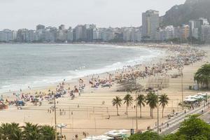 Playa de Leme en Copacabana, Río de Janeiro, Brasil foto