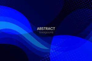 Fondo geométrico degradado azul abstracto. diseño de fondo moderno. plantillas creativas de composición de formas líquidas de onda. apto para el diseño de presentaciones. sitio web, base para pancartas, fondos de pantalla, folletos vector
