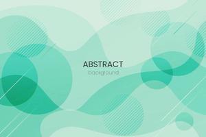 Fondo geométrico degradado verde abstracto. diseño de fondo moderno. plantillas creativas de composición de formas líquidas de onda. apto para el diseño de presentaciones. sitio web, base para pancartas, fondos de pantalla, folletos vector