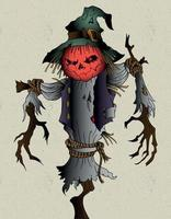 scarecrow halloween design vector