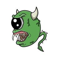 scary monster theme doodle art design vector
