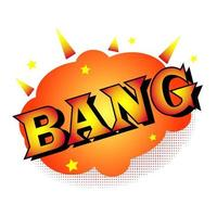 bang in the style of comics vector