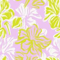 Lavender Floral Brush strokes Seamless Pattern Background vector