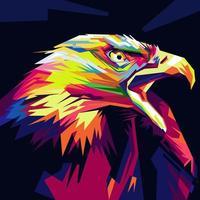 Eagle head pop art illustration vector