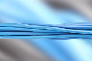 cables eléctricos azules foto
