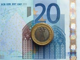 billetes de euro, unión europea foto