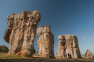 Stonehenge of Thailand Mo Hin khao at Chaiyaphum province Thailand photo