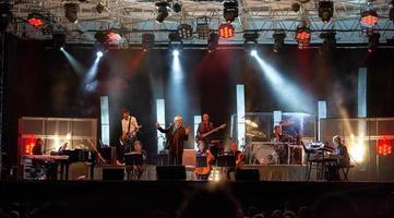 Monza, Italy, 2021 - Live rock concert of Franco Battiato photo
