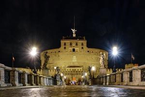 Castel Sant'Angelo at night, Vatican City photo