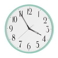 Clock shows five minutes to four photo