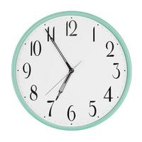 Five minutes to seven on a clock photo