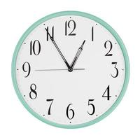 Office clock shows five minutes to an hour photo