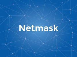 Ilustración de texto blanco de máscara de red con mapa de constelación azul vector