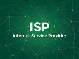 proveedor de servicios de internet isp ilustración de texto blanco vector