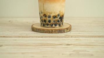 Thai milk tea with boba brown sugar video