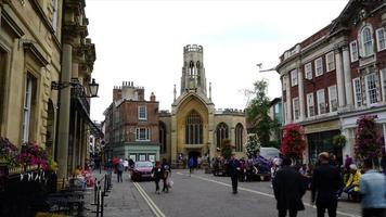 timelapse shopping street in York City, UK video