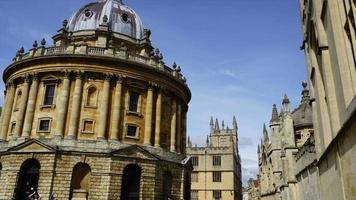 timelapse Oxford City with Radcliffe Camera in UK video