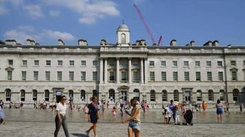 timelapse Somerset house on summer day in London video