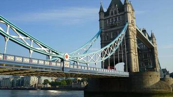 timelapse Tower Bridge with Thames River in London City, UK video