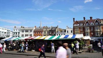 timelapse market square in Cambridge City, UK video
