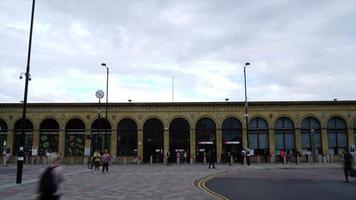 timelapse Cambridge Station in Cambridge City, UK video