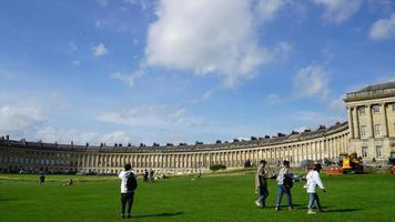 timelapse Bath City with Royal Crescent in UK video