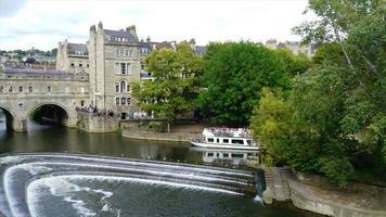 timelapse Bath City with Pulteney Bridge in UK video