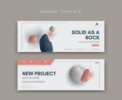 Vector template for social media marketing and web formats, brand identity collection