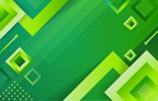 Abstract Green Geometric Background vector