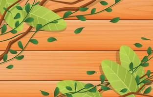 Floral and Wood Texture Background vector