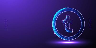 tumblr social media marketing background vector illustration