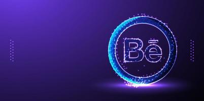 Behance social media marketing background vector illustration