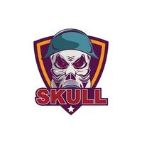 Skull with gas mask illustration vector