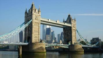timelapse Tower Bridge in London City, England, UK video