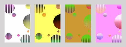 Minimal cover design. colorful halftones. Modern background template design for web. vector illustration
