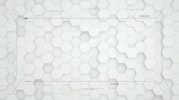White hexagon digital abstract background video