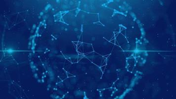 Blue plexus sphere digital technology video