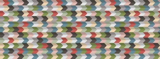 Abstract geometric  background, 3D effect, retro colors vector