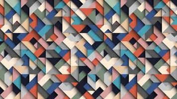 Abstract colorful geometric  background, 3D effect, trendy colors vector