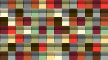 Geometric abstract background, 3D effect, retro colors vector