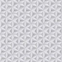 Abstract white, grey background, 3d paper seamless pattern with stars, geometric texture vector