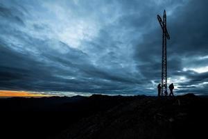 Mountaineers on the summit photo