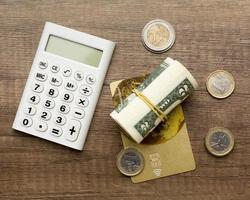 calculate monthly payment concept photo