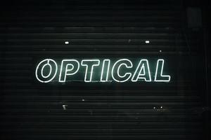 optical sign neon lights photo