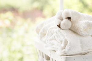 ventana de la cesta de lavandería foto