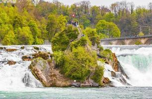 Rhine Falls Europes largest waterfall in Neuhausen am Rheinfall Switzerland. photo