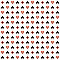 Seamless texture wallpaper casino playing cards suits vector