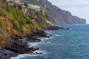 View over the south coastline of Madeira to the east. photo