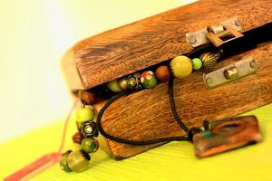 antique beads  in a Suitcase photo