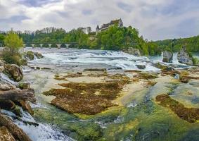 Rhine Falls Europes largest waterfall panorama Neuhausen am Rheinfall Switzerland photo